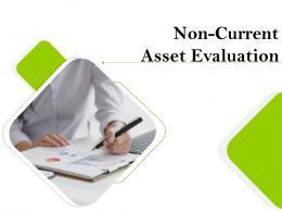 Non Current Asset Evaluation Powerpoint Presentation Slides