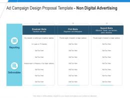 Non Digital Advertising Ad Campaign Design Proposal Template Ppt Powerpoint Presentation Show