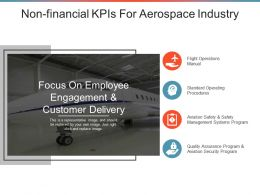 Non Financial Kpis For Aerospace Industry Powerpoint Templates