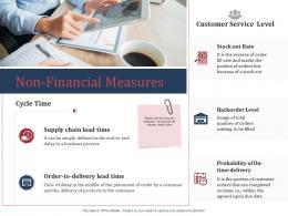 Non Financial Measures SCM Performance Measures Ppt Designs