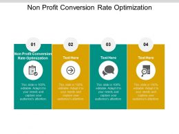 Non Profit Conversion Rate Optimization Ppt Powerpoint Presentation Summary Cpb
