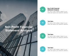 Non Profit Financial Statement Analysis Ppt Powerpoint Presentation Styles Cpb