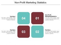 Non Profit Marketing Statistics Ppt Powerpoint Presentation Ideas Outline Cpb