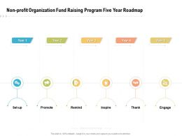 Non Profit Organization Fund Raising Program Five Year Roadmap