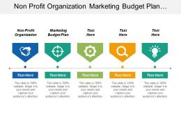 Non Profit Organization Marketing Budget Plan Performance Marketing Cpb