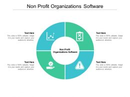 Non Profit Organizations Software Ppt Powerpoint Presentation Professional Templates Cpb