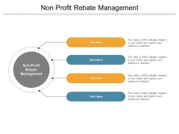 Non Profit Rebate Management Ppt Powerpoint Presentation Summary Infographic Template Cpb