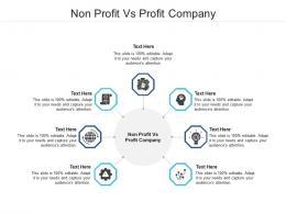 Non Profit Vs Profit Company Ppt Powerpoint Presentation Slides Skills Cpb