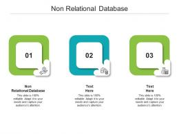 Non Relational Database Ppt Powerpoint Presentation Pictures Deck Cpb