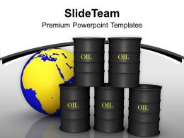 Non Renewable Resource Oil Tanks Future PowerPoint Templates PPT Themes And Graphics 0213