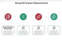 Nonprofit Impact Measurement Ppt Powerpoint Presentation Portfolio Visual Aids Cpb