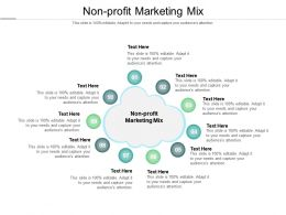 Nonprofit Marketing Mix Ppt Powerpoint Presentation Show Themes Cpb