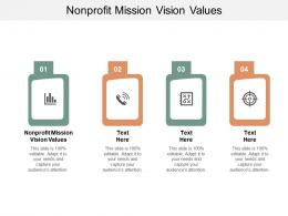 Nonprofit Mission Vision Values Ppt Powerpoint Presentation Model Slide Cpb