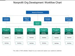 Nonprofit Org Development Workflow Chart