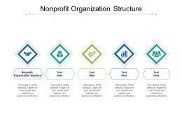 Nonprofit Organization Structure Ppt Powerpoint Presentation Infographics Model Cpb