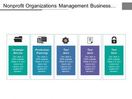 Nonprofit Organizations Management Business Marketing Key Risk Management Cpb