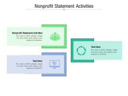 Nonprofit Statement Activities Ppt Powerpoint Presentation Slides Templates Cpb