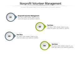 Nonprofit Volunteer Management Ppt Powerpoint Presentation Outline Grid Cpb