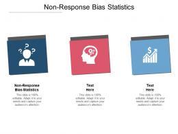 Nonresponse Bias Statistics Ppt Powerpoint Presentation Infographic Template Background Cpb