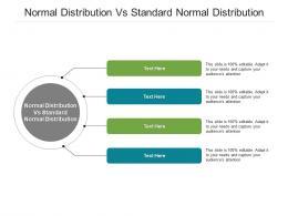 Normal Distribution Vs Standard Normal Distribution Ppt Powerpoint Presentation Inspiration Graphics Cpb