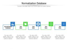 Normalization Database Ppt Powerpoint Presentation Infographics Microsoft Cpb