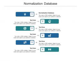 Normalization Database Ppt Powerpoint Presentation Slides Display Cpb