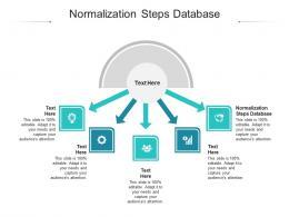 Normalization Steps Database Ppt Powerpoint Presentation Portfolio Gridlines Cpb