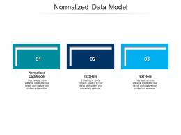 Normalized Data Model Ppt Powerpoint Presentation Layouts Layout Cpb