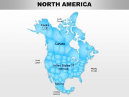 North America Continents Powerpoint Maps