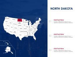 North Dakota Map Powerpoint Presentation PPT Template