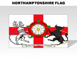 Northamptonshire Country Powerpoint Flags