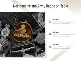 Northern Ireland Army Badge On Table