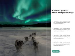 Northern Lights As Winter Background Image