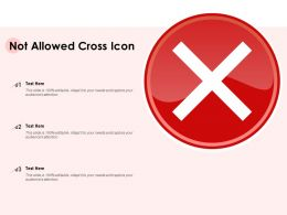 Not Allowed Cross Icon