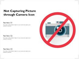 Not Capturing Picture Through Camera Icon