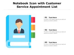 Notebook Icon With Customer Service Appointment List