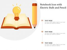 Notebook Icon With Electric Bulb And Pencil