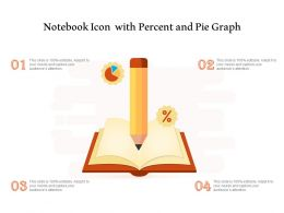 Notebook Icon With Percent And Pie Graph
