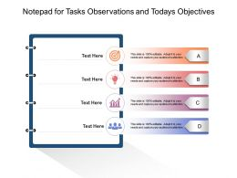 Notepad For Tasks Observations And Todays Objectives
