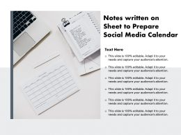 Notes Written On Sheet To Prepare Social Media Calendar