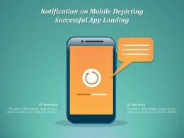 Notification On Mobile Depicting Successful App Loading
