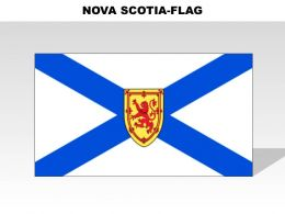 Nova Scotia Country Powerpoint Flags