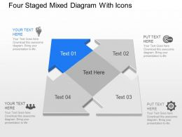 Np Four Staged Mixed Diagram With Icons Powerpoint Template