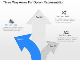 np Three Way Arrow For Option Representation Powerpoint Temptate