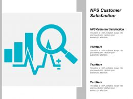 NPS Customer Satisfaction Ppt Powerpoint Presentation Infographics Graphics Example Cpb
