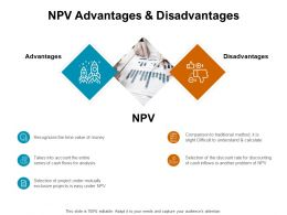 NPV Advantages And Disadvantages Cash Ppt Powerpoint Presentation Icon Objects