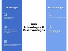 NPV Advantages And Disadvantages Ppt Powerpoint Presentation File Visuals