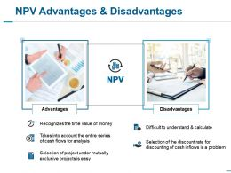 Npv Advantages And Disadvantages Ppt Slides Ideas