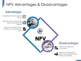 Npv Advantages And Disadvantages Ppt Styles Gridlines