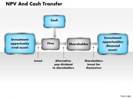 NPV And Cash Transfer powerpoint presentation slide template